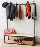Вешалка для вещей Irn wdn Coat Hanger 15008. В стиле Лофт. Ручная работа. Сделано в Индии.