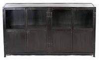 Буфет Sideboard 15040. Цвет чёрный. Буфет в стиле Лофт. Ручная работа. Сделано в Индии.