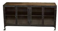 Буфет Sideboard 15067. Цвет чёрный. Буфет в стиле Лофт. Ручная работа. Сделано в Индии.