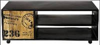 Тумба под Irn Wdn Plasma 15015. В стиле Лофт. Ручная работа. Сделано в Индии.