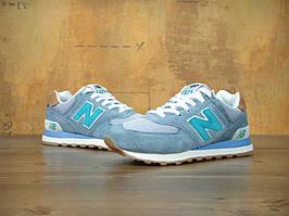 Кроссовки New Balance 574 Blue Gray Mint