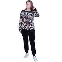 Женский спортивный костюм принтом тигр (Турция)