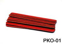 Набор одноразовых пилочек 10 см 10 шт в упаковке красные, пилка одноразовая YRE PKO-01, все для маникюра