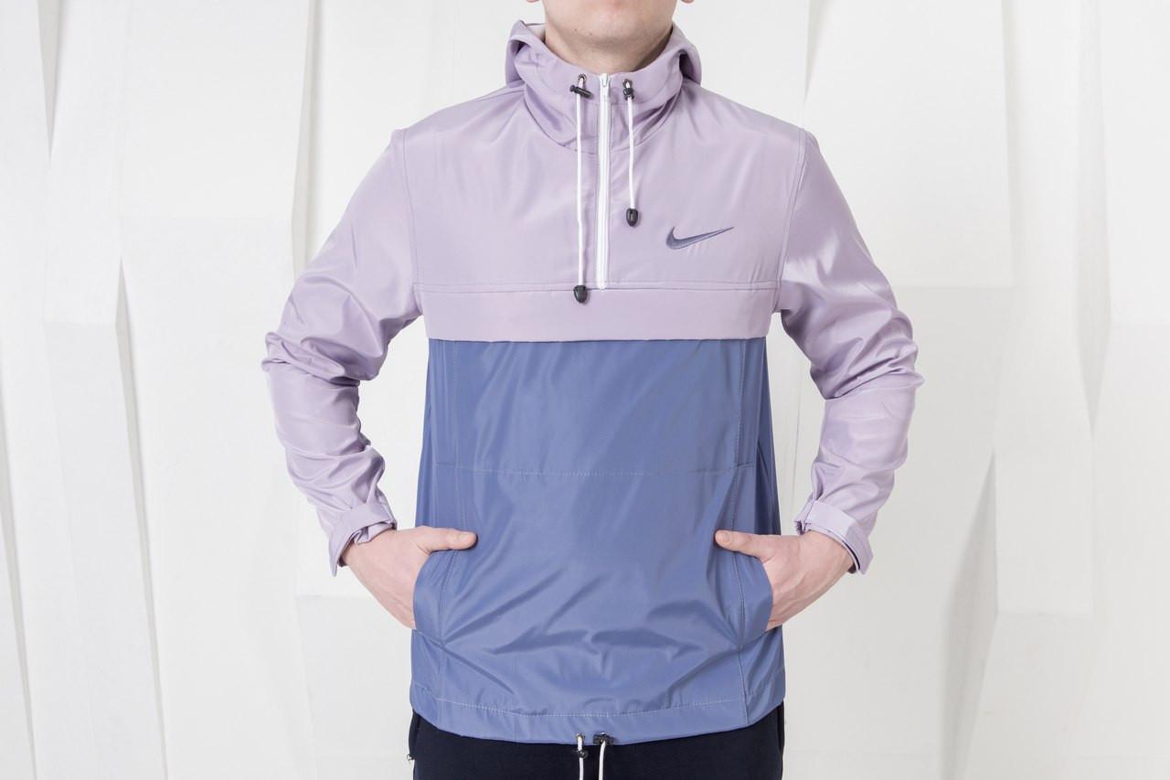 ba433e65 Стильная мужская куртка анорак найк (Nike), сиреневая реплика, цена 430  грн., купить в Киеве — Prom.ua (ID#517630622)