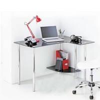 Угловой компьютерный стол из стекла  Р 9