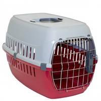 Переноска для собак и котов Moderna РОУД-РАННЕР 1  с металлической дверью IATA, 51Х31Х34 см, красный кирпич.