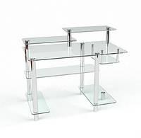 Стеклянный компьютерный стол  Р 10