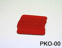 Набор одноразовых пилочек 4,7 см 10 шт в упаковке красные, пилка одноразовая YRE PKO-00, пилочки для ногтей