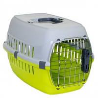 Переноска для собак и кошек Moderna РОУД-РАННЕР 1  с металлической дверью IATA, 51Х31Х34 см, ярко-зеленый.