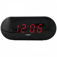 Светодиодные часы 715-1, красная подсветка, отсрочка будильника, 5 кнопок