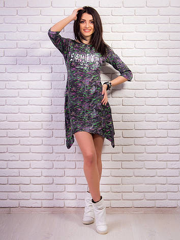 5cafe906bf8dd63 Великолепное молодежное платье - туника с принтом джинс: продажа ...