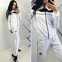 Женский спортивный костюм  Adidas черно-белый