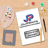 Дизайн Визитки Middle-UP Design от JiliPrints