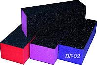 Баф трехсторонний цветной 1шт, баф полировочный YRE BF-02, бафики для ногтей