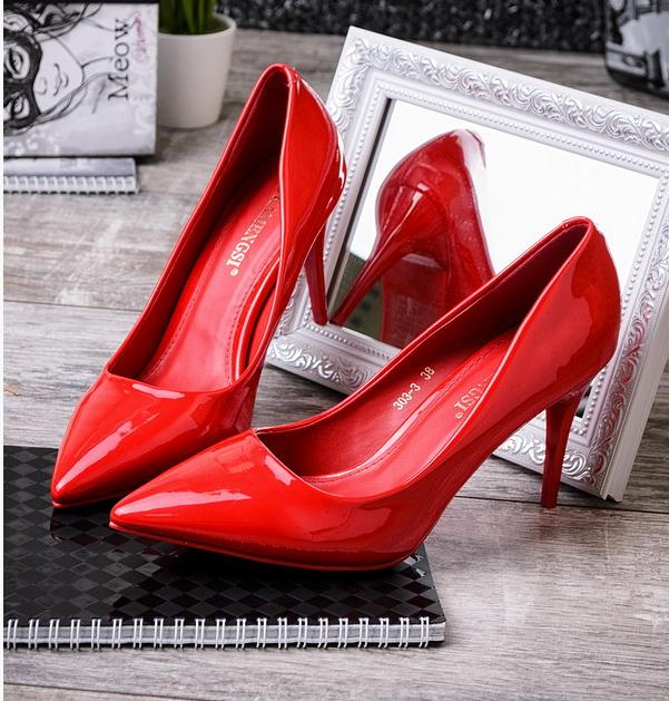 Супер классные красные туфли-лодочки каблук O-12780 недорого купить ... 7cee2dd6c3d