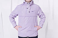 Легкая куртка анорак найк (Nike), сиреневая
