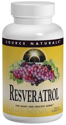 Source Naturals, Ресвератрол, 60 таблеток, фото 2