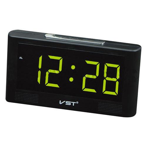 Часы на светодиодных индикаторах VST 732-2 зеленые, будильник, выбор мелодии, резервное питание  - Интернет магазин «Наш базар» быстро, доступно и качественно в Киеве