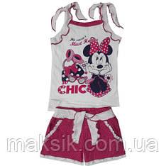 Комплект майка+шорты для девочки р.104-110см