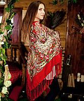 Павлопосадский платок (135х135см + бахрома), фото 1
