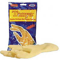 Перчатки латексные хозяйственные хлорированные,сатиновые (2шт) SKIN TANYA (SKIN TANYA-M(7/7/5) x 1527)