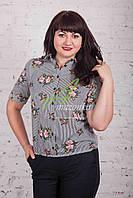 Цветочная женская блузка от AMAZONKA - (код бл-99), фото 1