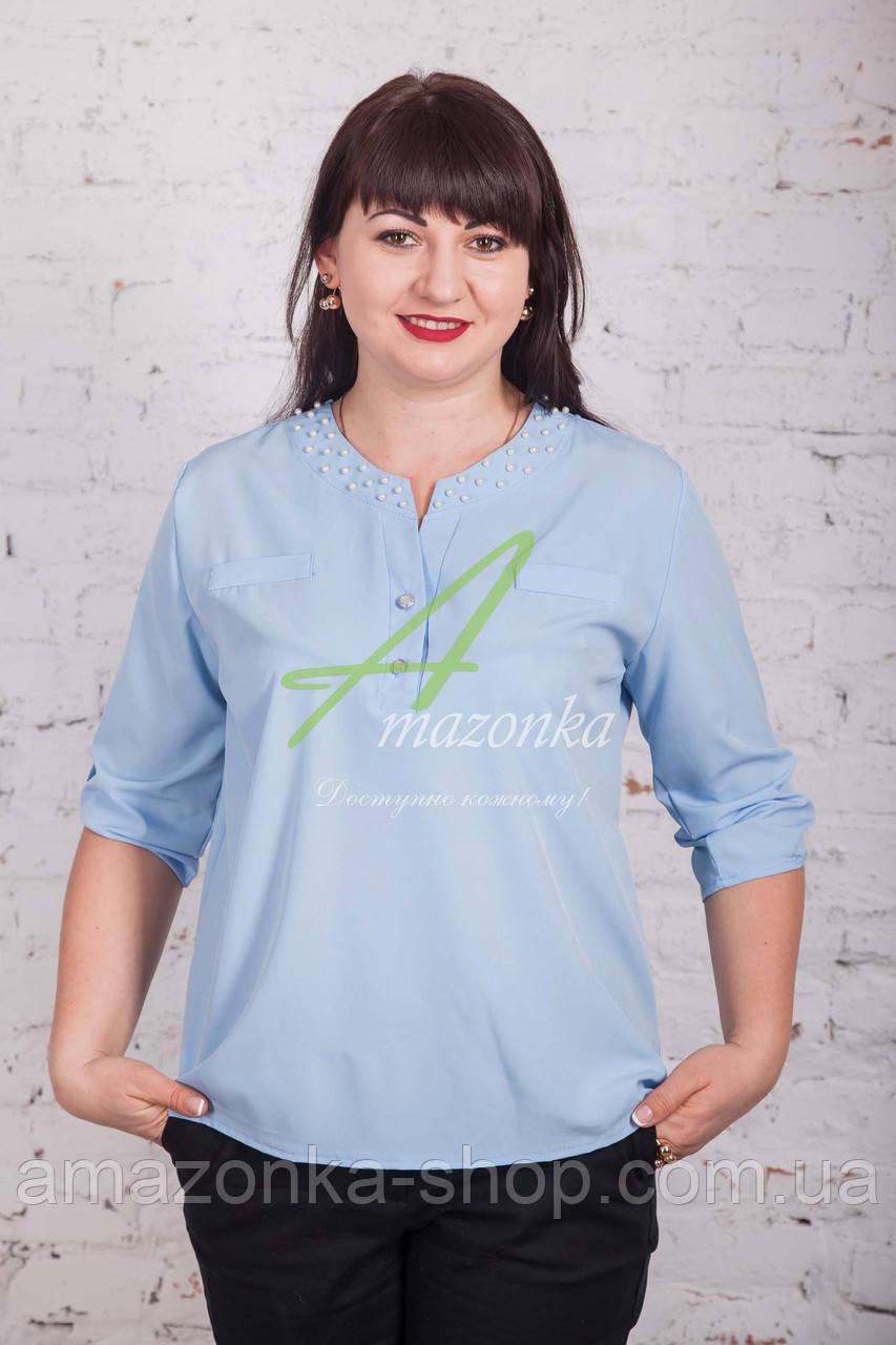Женская блуза с бусинками от АМАЗОНКА 2017 - (код бл-201а)