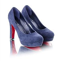 Женские туфли с красной подошвой каблук 11,5см  O-9664