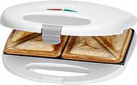 Сендвичница - бутербродница Clatronic ST 3477 белая 750 Вт Германия