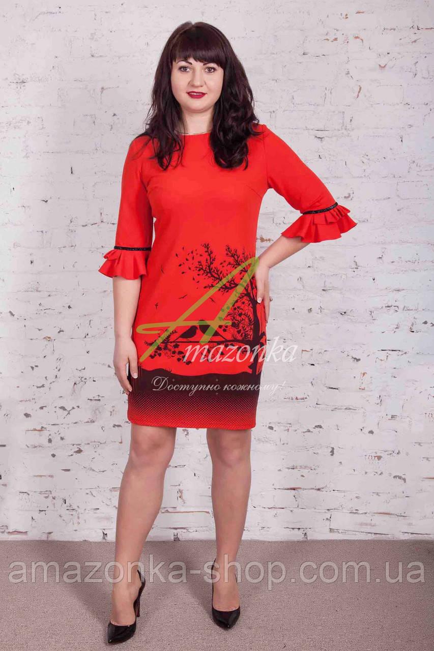 Повседневное женское платье на весну от AMAZONKA - Код пл-150р