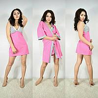 Набор халат с ночной рубашкой 100% хлопок