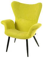 Дизайнерское кресло Контур К-20, вельвет цвет лайм на деревянных ножках реплика Featherston Contour Chair
