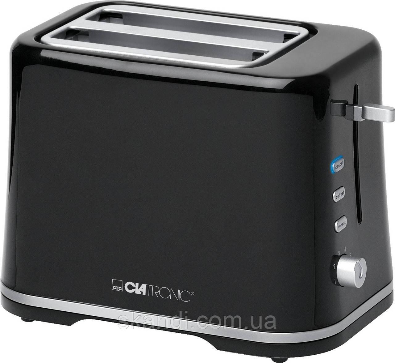Тостер Clatronic KA 3554 черный 870Вт