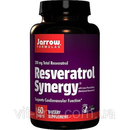 Jarrow Formulas, Ресвератрол совместного действия, 60 таблеток, фото 2