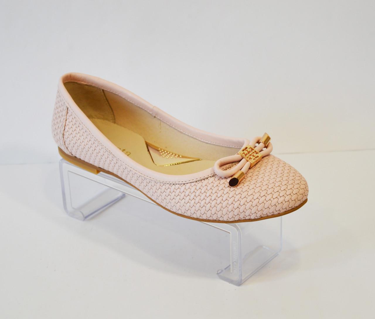 Женские розовые балетки Selesta 50-76