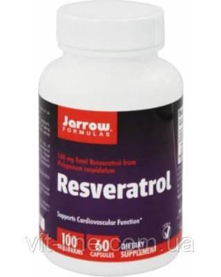 Jarrow Formulas, Ресвератрол 100, 60 овощных капсул, фото 2