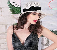Женская шляпа с полями из натуральной соломки