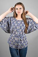 Женская рубашка Лолита (орнамент) из штапеля свободного кроя с широкими рукавами 46-54 размера