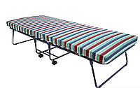 """Металлическая раскладная кровать-тумба на ламелях """"Валлетта"""", матрас поролон листовой 80 мм, нагрузка 180 кг"""