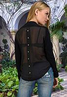 Женская кофта с шифоновой спинкой у-t6104544