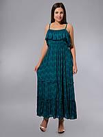 Сарафан женский летний яркий зеленый, 44-46 р-ры