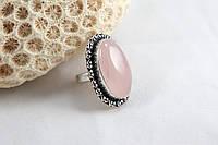 Серебряное кольцо с розовым кварцем 16 р