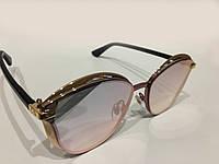 Женские солнцезащитные очки Dior  Розовый цвет, зеркальные