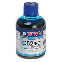 Чернила WWM для Canon CL-52P/CLI-8PC 200г Photo Cyan Водорастворимые (C52/PC)