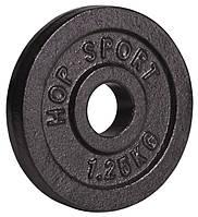 Диск металлический Hop-Sport 1,25кг для дома и спортзала