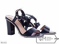 Босоножки женские на каблуке черные, р 36