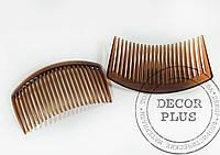 Гребешок для волос 8,5*4см коричневый
