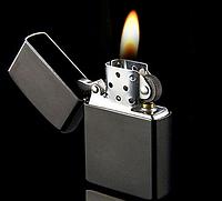 Зажигалка бензиновая черная-матовая (конструкция Zippo)