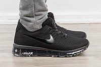 Кроссовки мужские летние Nike Air Max 2017 беговые Black (молодежные, спортивные, стильные)