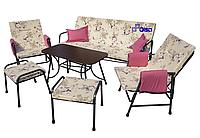 """Набор террасной мебели """"Глория"""" с829, без пуфиков, с мягкими элементами+2 подушки"""